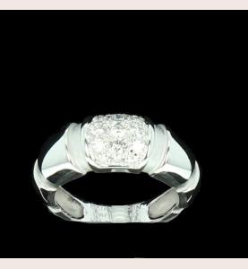 Ring Mauboussin Gold grau und Diamanten