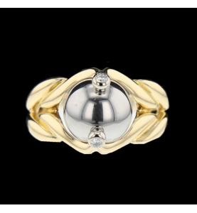 Gilbert Albert Ring Yellow Gold and Diamond