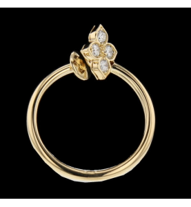 Cartier ring yellow gold and diamonds 0.40 carats.