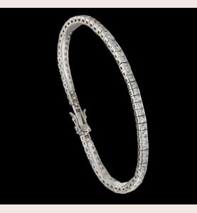 Bracelet Tennis Argent 925 Pierres Synthétiques