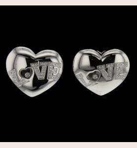 Chopard Happy Diamonds Heart LOVE earrings