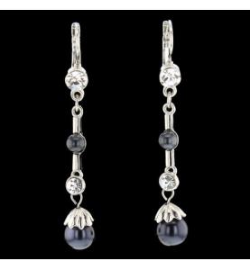 Buckles Fantasy Pearls Synthetic Stones earrings