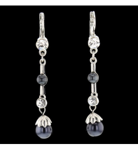 Ohrringe Fantasy Perlen Perlen Synthetische Steine Silber 925