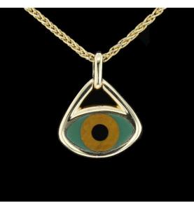 Collier Pendentif TABBAH Talisman Eye