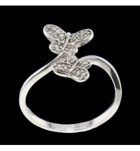 Ring Schmetterling Steine Synthetische Silber