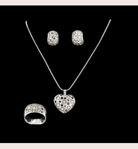 Graugold und Diamanten von 1.90 Karat