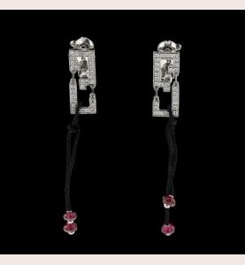 Boucles d'oreilles Cartier Wishknot Or gris