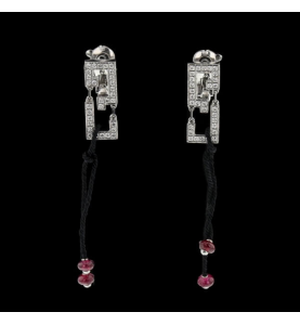 Cartier Wishknot Ohrringe Graugold