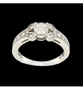 Bague Cartier Ballerine platine et diamants