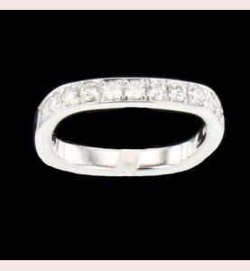 Bague Bucherer or gris diamants de 0.55 carats