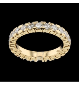 Eternity Ring Gelbgold 25 Diamanten 1.25 Karat
