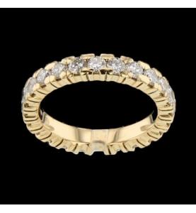 Eternity Ring Yellow Gold 25 Diamonds 1.25 carats