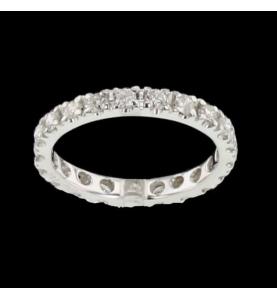 Eternity Ring Graugold 21 Diamanten 0,53 Karat