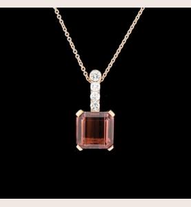 Création GBT Pendentif Tourmaline Diamants