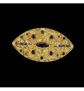 Style Oriental Saphirs Rubis Emeraudes Diamants