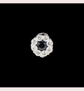 Ohrringe aus saphirgrauem Gold und Diamanten