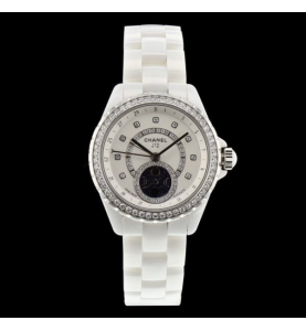 Chanel J12 White Moonphase Diamonds