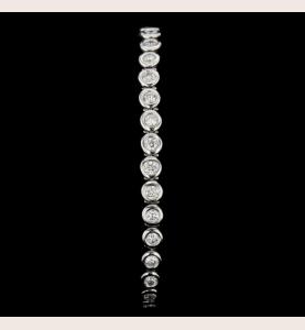 Armband Weißgold 33 Diamanten 4.15 Karat
