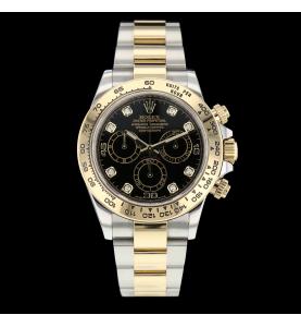Rolex Daytona Or Acier Index Diamants
