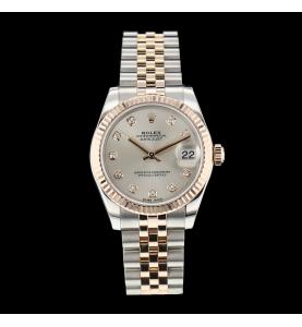 Rolex lady Datejust or acier