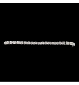 Bracelet Or Blanc 18 carats 0.90 carats