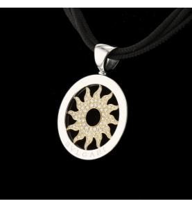 Bvlgari Tondo Sonnenkette Gepflasterte Diamanten