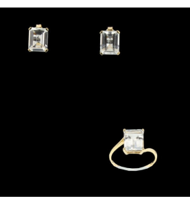 Yellow Gold Synthetic Stone Adornment