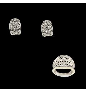 Gold-gray filigree adornment