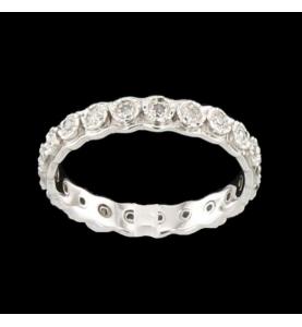 Eternity Ring Gold Grau 22 Diamanten