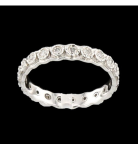 Eternity Ring Grey Gold 22 Diamonds