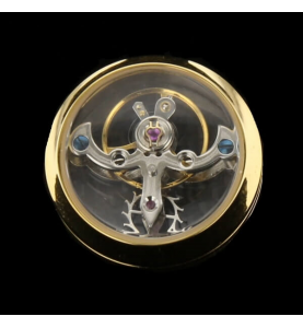 Boutons de manchette TF Geneve PVD Or