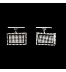 Boutons de manchette or gris 750