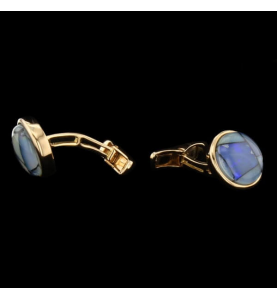 Yellow gold and opals